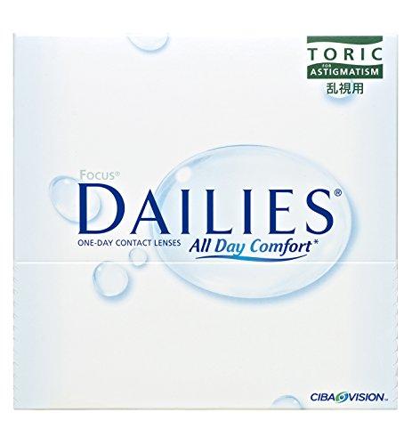 Alcon Focus Dailies Toric Torische Tageslinsen weich, 90 Stück / BC 8.6 mm / DIA 14.2 / CYL -0.75 / ACHSE 180 / -5 Dioptrien