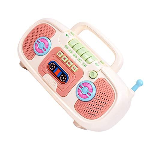NUOBESTY Niños Reproductor de Música Grabadora Que Dice La Máquina Juguete con La Luz Grabadora de Sonido Juguetes de Montessori...