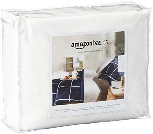 Amazon Basics - Funda hipoalergénica para colchón - 135 x 190 x 20 cm