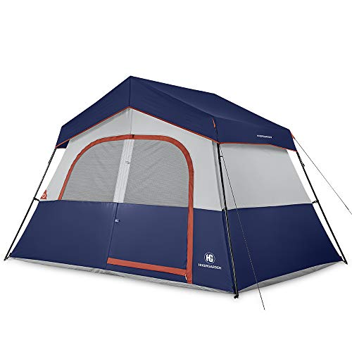 HIKERGARDEN Camping Tent - 6 Person Camping Tent, Professional Waterproof & Windproof with Rainfly, Double Layer, Advanced Venting Design, Easy Setup & Portable with Carry Bag for Hiking(Blue)