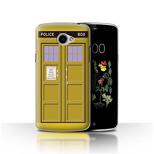 Hülle Für LG K5/X220 Tardis Handyzelle Kunst Gelb Design Transparent Ultra Dünn Klar Hart Schutz Handyhülle Hülle