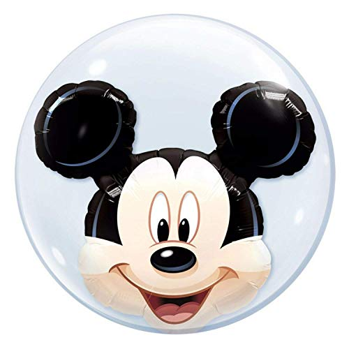 Qualatex Ballon en latex double bulle Disney Mickey Mouse 61 cm