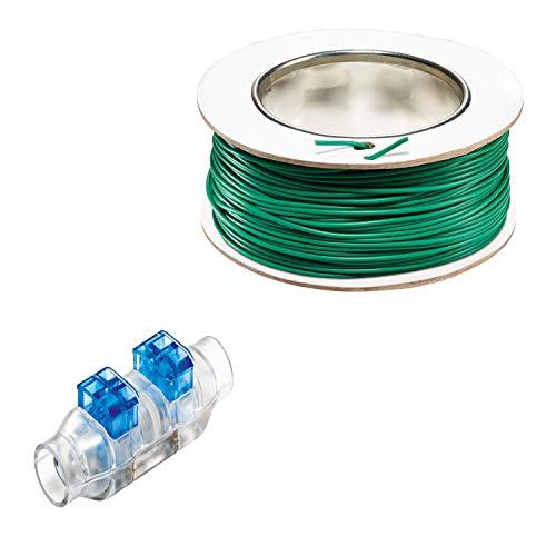 Bosch 4 tlg. Kabelstecker + 100 m Begrenzungskabel (für Bosch Indego Mähroboter)
