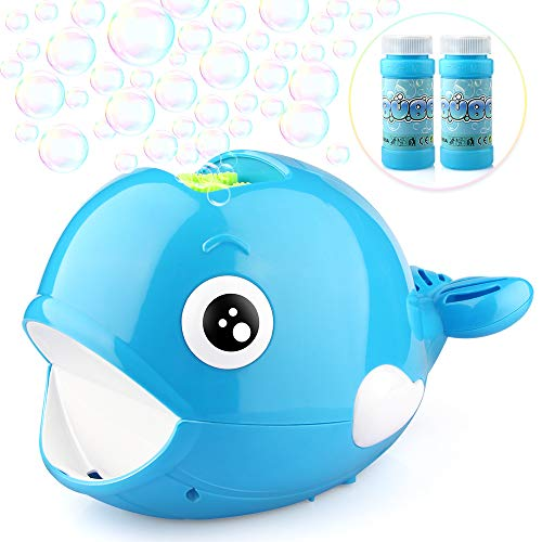 Betheaces Bubble Machine - Automatic Whale Bubble Maker Over 2000 Bubbles Per Minute Bubble Blower Toys for 3 4 5 6 7 8-16 Boys Girls Easy to Use of Indoor, Outdoor, Party, Wedding (Blue)