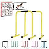 POWRX Dip Barren (Paar) inkl. Workout I Push Up Stand Bar I Dip Station I Fitness Rack I Größen