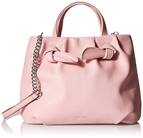 Anne Klein womens Anne Klein Knotted Satchel Bag, Pink, 11 L x 5 D 9.75 H US
