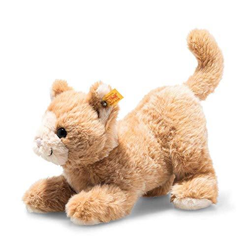 Steiff Soft Cuddly Friends Cassie Katze-26 cm-Kuscheltier für Kinder-weich & kuschelig-waschbar-rotblond (099182)