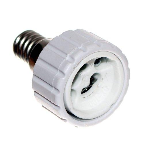 E14 Schraubsockel Adapter auf GU10 Fassung Keramik Zwischenstecker für Glühlampen & LED 230V Old-Harvest