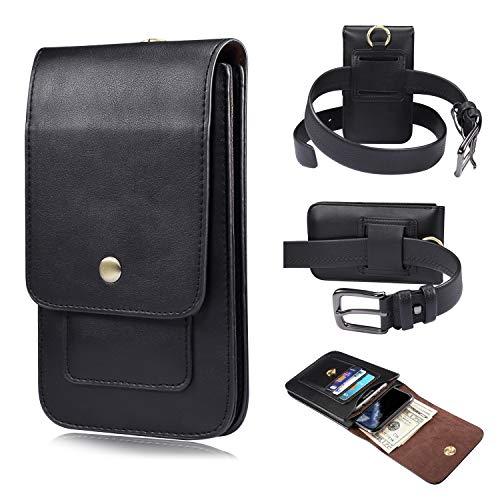 Premium Leder-Gürteltasche mit Clip für Samsung Galaxy Note 20, Note20 Ultra, S20+, S20 Ultra, S10 Lite, Note10 Lite, A71 5g, A81, A51 5G, A21s für Herren Geldbörse