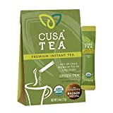 Cusa Tea & Coffee, Green Tea. Premium Instant Tea Made With Real Fruit and Spices, Organic Leaves, No Added Sugar. Drink Mix Packets Ready in Seconds, Makes Hot or Iced Tea (10 Servings)