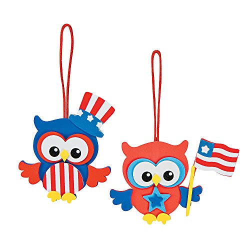 Patriotic Owl Ornament Craft Kit -12 - Crafts for Kids and Fun Home Activities