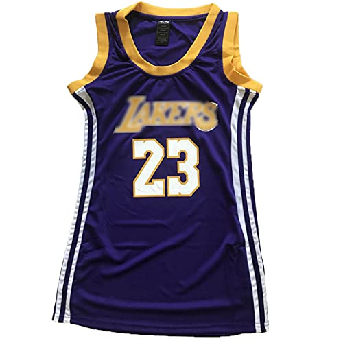 XIAOQSM 23# Vestido De Camiseta De Baloncesto De Las Mujeres 23# Deportes Gimnasio Chaleco T Shirt Vestir Chaleco Superior Púrpura Purple- M