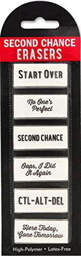 Second Chance Erasers (6 high-polymer, latex-free erasers)