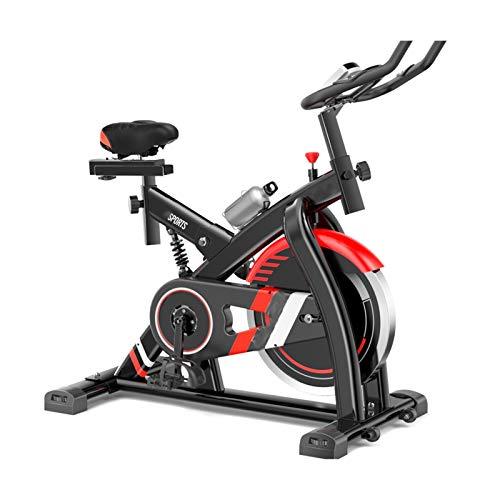 BZLLW Bicicletas estáticas de spinning, Bicicletas de ejercicios, bicicleta en bicicleta de interior - Bicicleta de ejercicios para el gimnasio para el hogar con cómodo cojín de asiento, transmisión d