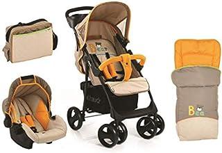 عربة اطفال شوبر اس ال اكس شوب اند درايف مع حقيبة نوم وحقيبة للام من هاوك