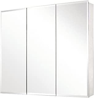 Pegasus SP4589 31-Inch by 36-Inch Tri-View Beveled Mirror Medicine Cabinet, Clear