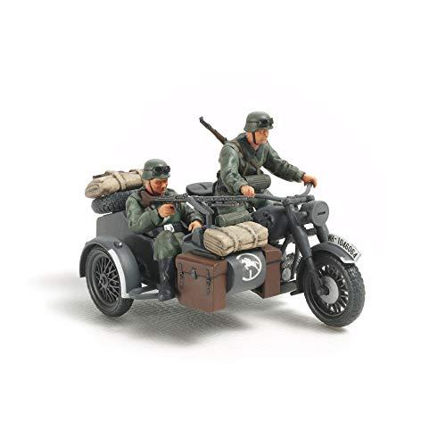 Tamiya 300032578 - estatuilla alemán Motociclistas (II Guerra Mundial) con Sidecar, Escala 1:48