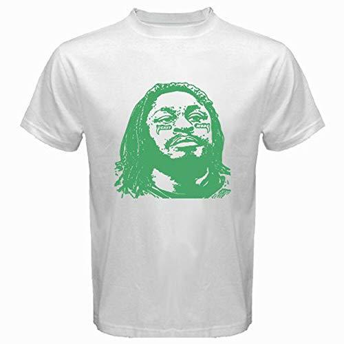New Beast Mode Marshawn Lynch Football Seattle Rb Men's White T-Shirt Size S-3Xl