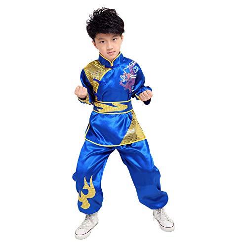 Meijunter Chinesisch Kung Fu Kostüm - Tai Chi Kampfkunst Bühne Performance Uniform Übung Tracksuit Wushu Kleidung
