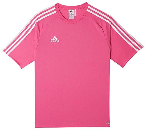adidas Estro 15 JSY - Camiseta para hombre, color rosa solar/blanco, talla XL