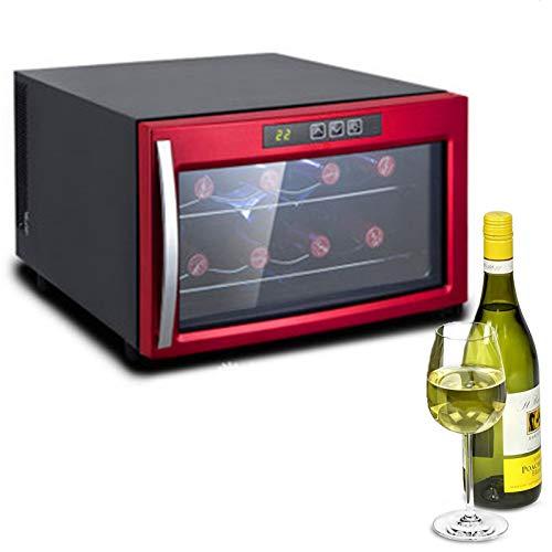 SXF Enfriador de Vino de 8 Botellas Controles de Pantalla Táctil Digital Refrigerador de Vino Low Energy a Marco de Acero Inoxidable...