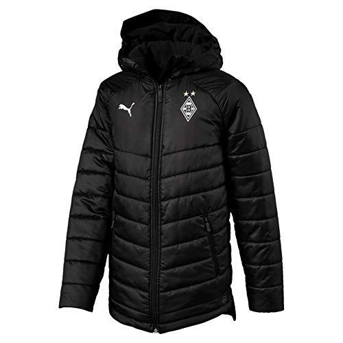 PUMA Kinder BMG Bench Jacket Jr Without Sponsor Logo Winterjacke, Black, 140