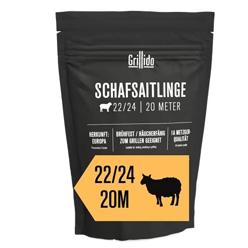 Grillido Schafsaitling I Kaliber 22/24 I 20 Meter I VON METZGER MANUFAKTUR AUS DEUTSCHLAND I Güteklasse 1A I brühfest & rauchfähig