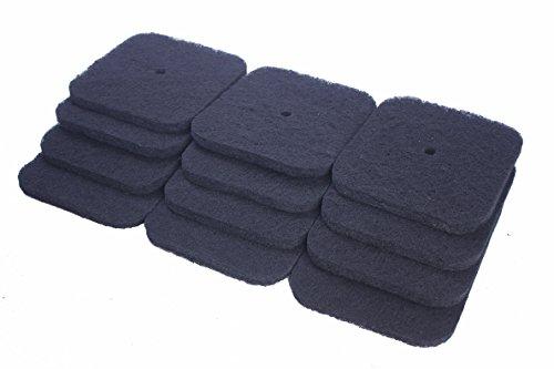 LTWHOME Remplacement Carbonée Filtre Convient pour Catit Hooded et Jumbo Hooded Chat Casserole Codes 50695, 50696, 50700, 50701, 50702 (Paquet de 12)