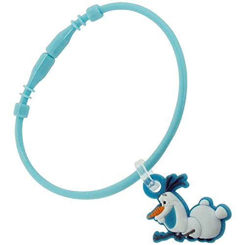 Disney Frozen–Olaf Coleccionable de encanto 'B' goma azul pulsera FJ1572