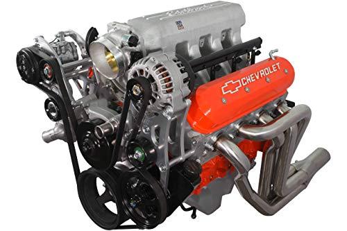 ICT Billet LS Corvette - Low Mount 4 Rib Air Conditioning Compressor Bracket for Sanden 7176 SD7 Compressor Compatible with LS1 LS6 LS2 LS3 LS7 LSX 551137-LS74-1