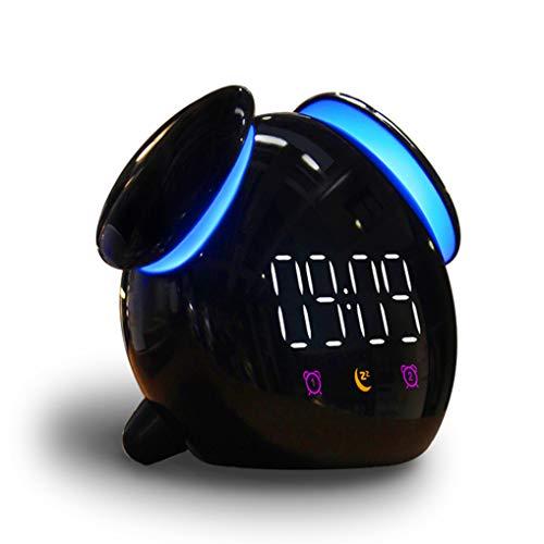 GuDoQi Despertador Digital Infantil con Luz y Función Snooze, Reloj de Cabecera con Alarmas Duales y Temporizador de 10 Minutos para Dormir, USB Recargable, Regalo para Niños y Niñas