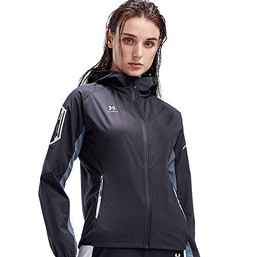 HOTSUIT Sauna Jacket Women Weigh Loss Boxing Gym Workout Durable Sweat Suit Black S