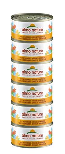 almo nature Megapack Coscia di pollo - cibo umido per gatti adulti 100% naturale - pacco da 6 x70g lattine