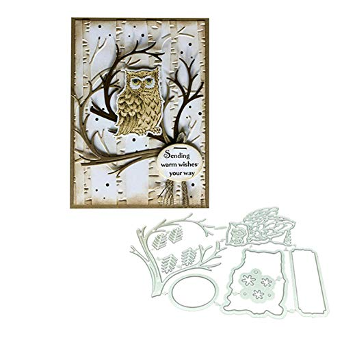 Owl on The Tree Stamps and Dies Sets for Card Making Bird Metal Cutting Dies Christmas Craft Dies and Stamps
