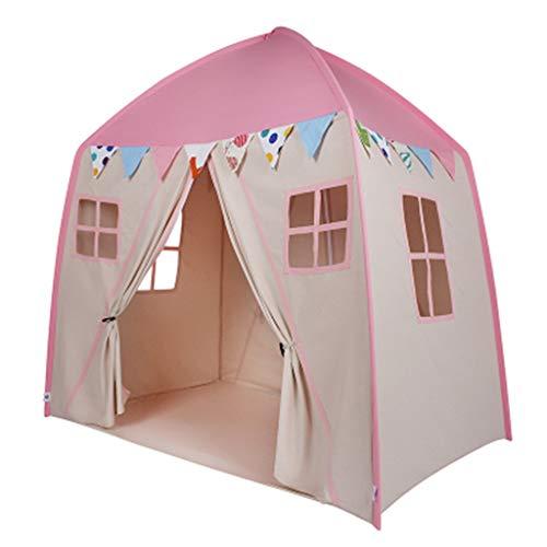 CSQ Children's House Shaped Tent, Indoor Children's Play House Family Children Sleeping Tent 150 * 100 * 150CM Children's play house (Color : A, Size : 150 * 100 * 150CM)