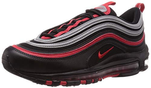 Nike Men's Air Max 97 Trail Running Shoes, Multicolour (Black/University Red-Metallic Silver 014), 6 UK