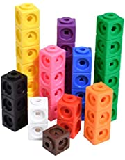 Save on edxeducation Math Cubes - Set of 100 - Linking Cubes For Early Math - Connecting Manipulative For Preschoolers Aged 3+ and Elementary Aged Kids