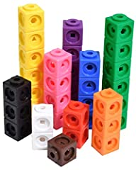 CLEVER DESIGN -- These math cubes snap together with a soft click, making them an ideal fine motor, construction and creative activity for ages 3+. INSPIRE LEARNING WITH SHAPES -- Five sides of each cube contain a different geometric shape to create ...