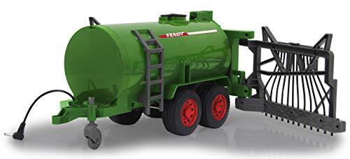 Jamara- Fendt-Carretilla de Barril, depósito de 450 ml, función de pulverización Encendido/Apagado, Enganche de Remolque Delantero, Distribuidor Manual de Manguera, Color Verde (405235)