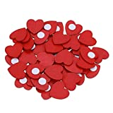 100 pegatinas de corazones de madera rojas hechas a mano para manualidades, álbumes de recortes, decoraciones de Navidad, adornos para boda, fiesta, manualidades, tarjetas