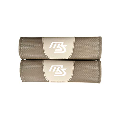 2 Pcs Car Seat Belt Shoulder Pads Suitable for Demio Mx5 C-x9 MS, Carbon Fibre Seatbelt Protector Cover Cushion with Emblem, Seat Belt Padding for Kids and Adults