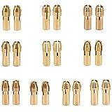 Mandrino per trapano in ottone BESLIME, 20 mandrini in ottone per utensili rotanti Dremel, mandrino per mandrino per trapano con gambo 0,5-3,2 mm (oro)