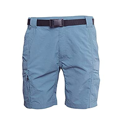 Coleman Men's Hiking Cargo Shorts with Belt Ideal for Inclement Weather (Large, Alpha Blue)