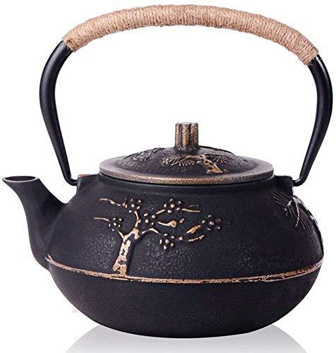 Bouilloire Pratique Kettle de Fer spéciale électrique céramique cuisinière thé Machine à thé Pivoine Faite à la Main théière en Fonte Kettle Set 900ml UOMUN