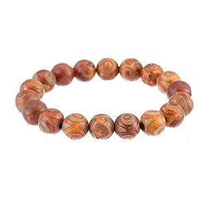 Prime Feng Shui Retro Tibetisches 3 Augen Dzi Armband schützendes Amulett Geschenk für Männer/Frauen ziehen positive Energie und Glück an