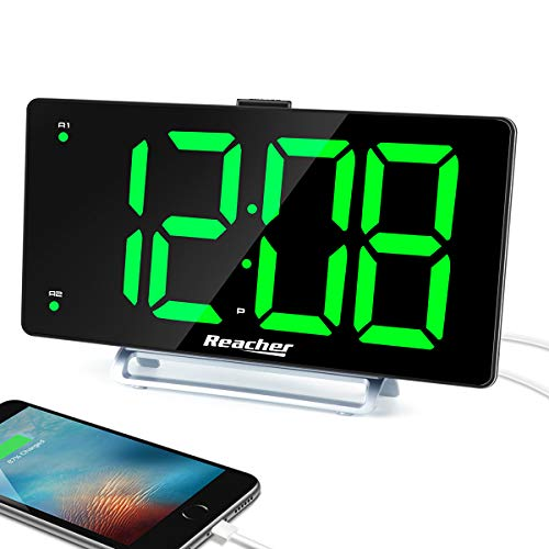 "Large Alarm Clock 9"" LED Digital Display Dual Alarm with"