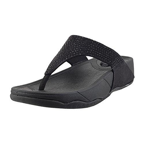 Mochi Black Fashion Slippers - 3 UK (36 EU) (32-8237)