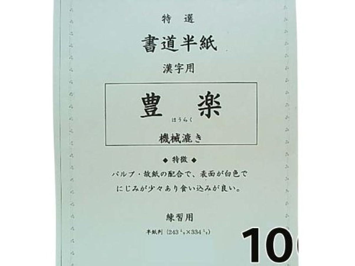 計算本を読む感謝する【漢字用】豊楽 100枚 書道半紙