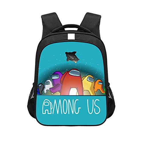 Among Us Game Backpack 3D Digital Color Printing Travel Backpack College Middle School Students Computer Bag School Bag Boys Outdoor School Bag