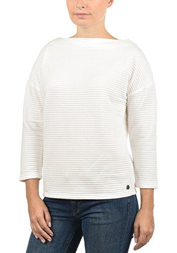 DESIRES Jona Damen Sweatshirt Pullover Sweater Mit U-Boot-Ausschnitt Und 7/8 Arm, Größe:M, Farbe:Off White (0104)